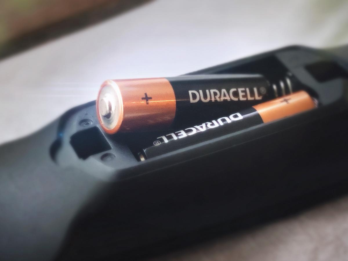 Baterías de coppertop en un control remoto