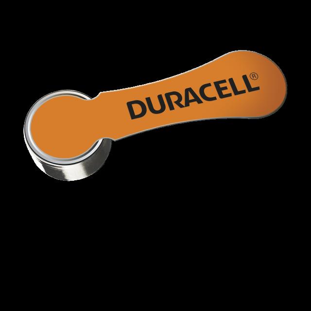 Standalone orange 13 hearing aid battery