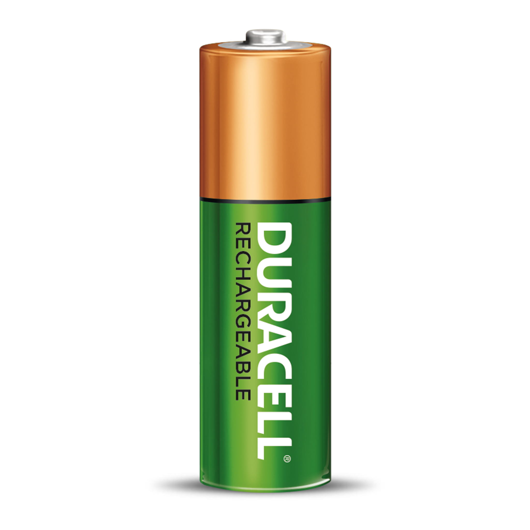 Standalone green and copper AA rechargeable battery