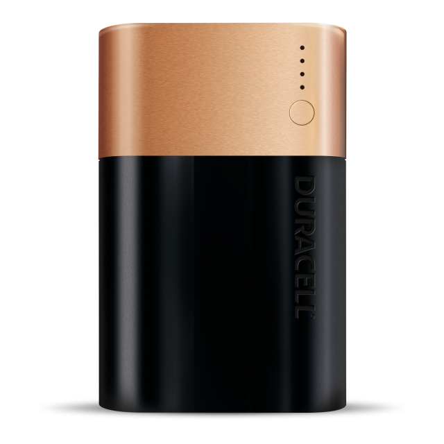 rectangluar black and copper 3 day Powerbank battery