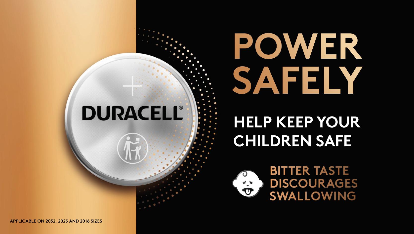 Power Safely. Help keep your children safe. Bitter taste discourages swallowing.