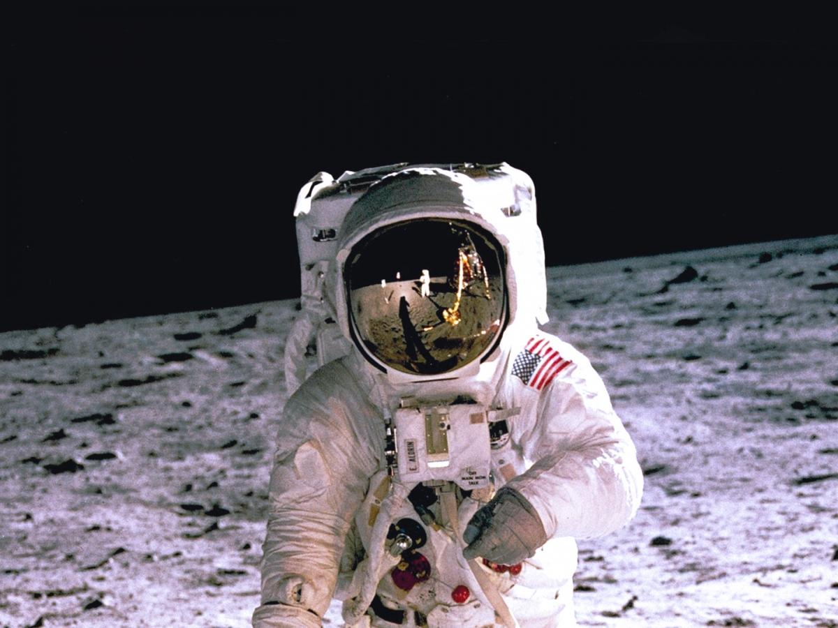 Man walking on the moon
