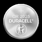 Pila de moneda de litio con CR 2025 grabado en la superficie